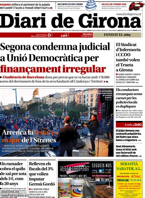 Periodico Diari de Girona   22/4/2017