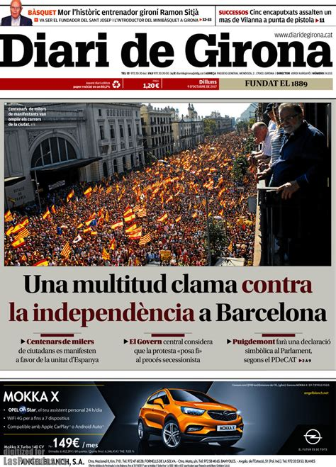 Periodico Diari de Girona   23/2/2018