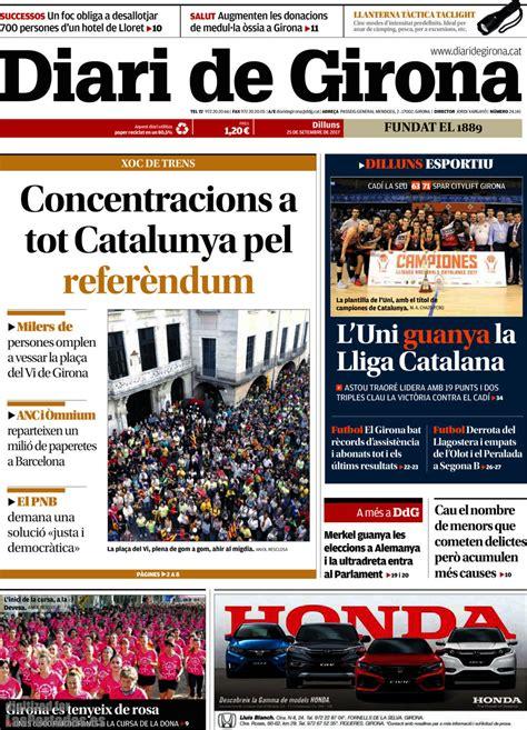 Periodico Diari de Girona   25/9/2017