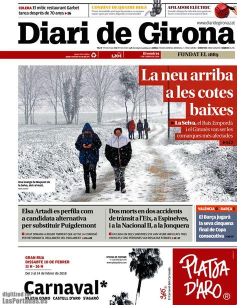 Periodico Diari de Girona   9/2/2018