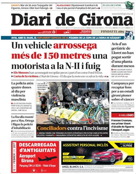 Periódico Diari de Girona  España . Periódicos de España ...