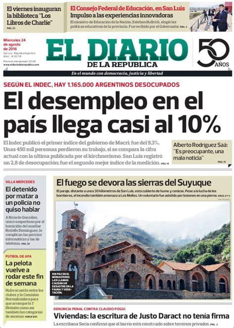 Periódico Diario de la República  Argentina . Periódicos ...