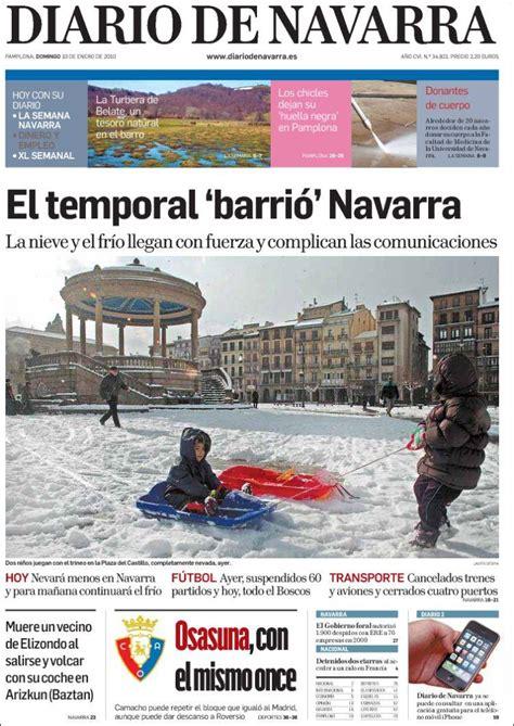 Periódico Diario de Navarra (España). Periódicos de España ...