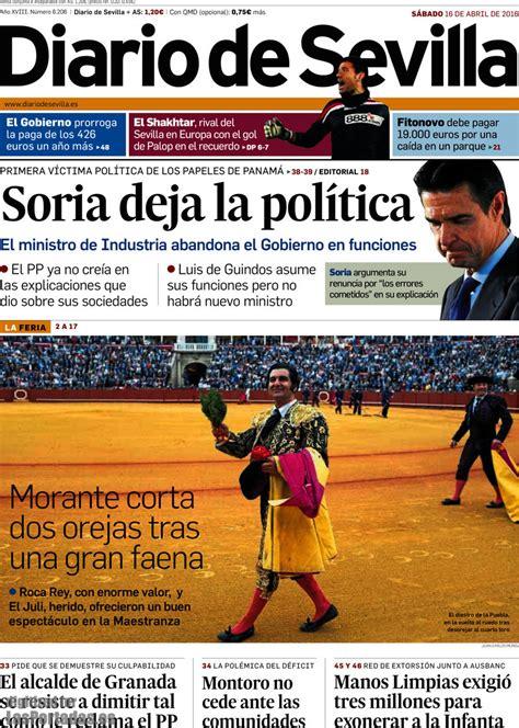Periodico Diario de Sevilla   16/4/2016