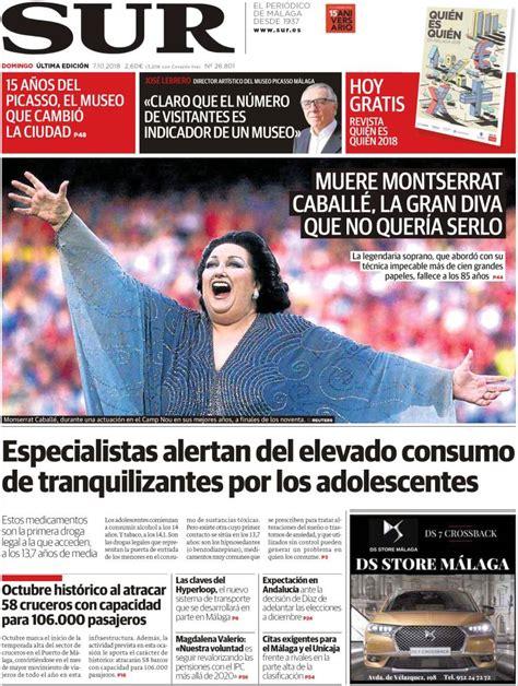 Periódico Diario el Sur (España). Periódicos de España ...