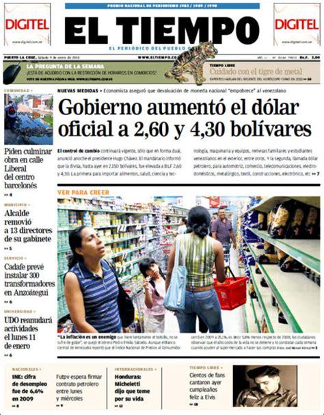 Periódico Diario El Tiempo (Venezuela). Periódicos de ...