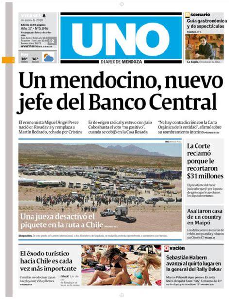 Periódico Diario Uno  Argentina . Periódicos de Argentina ...