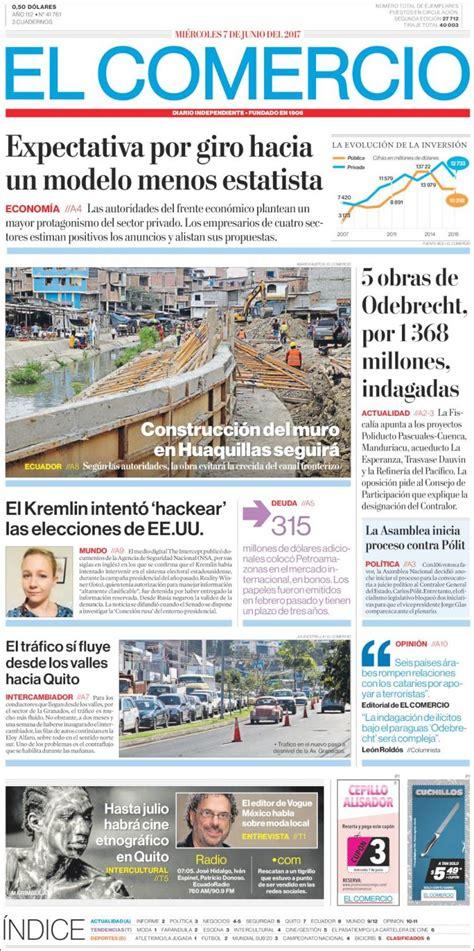 Periódico El Comercio (Ecuador). Periódicos de Ecuador ...