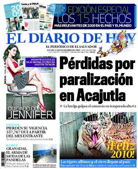 Periódico El Diario de Hoy  El Salvador . Periódicos de El ...