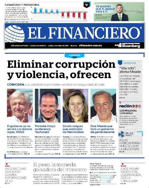 Periódico El Financiero  México . Periódicos de México ...