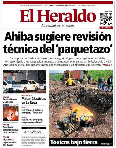 Periódico El Heraldo (Honduras). Periódicos de Honduras ...