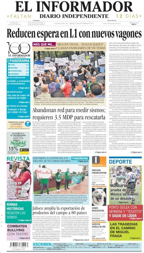 Periódico El Informador (México). Periódicos de México ...