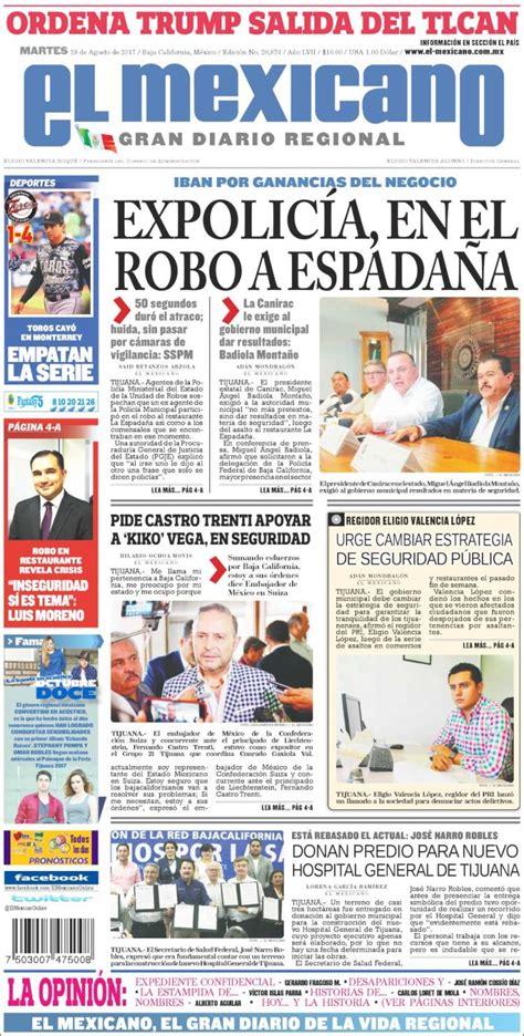 Periódico El Mexicano - El Gran Diario Regional (México ...