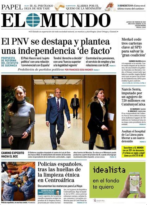Periódico El Mundo (España). Periódicos de España. Edición ...