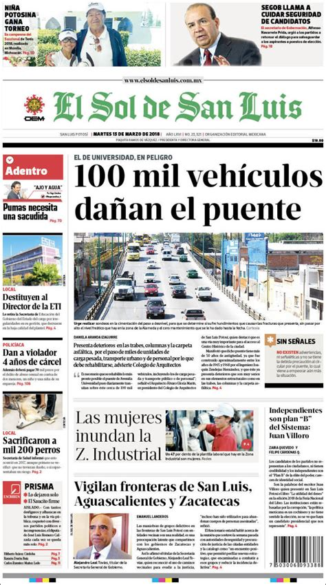 Periódico El Sol de San Luis  México . Periódicos de ...