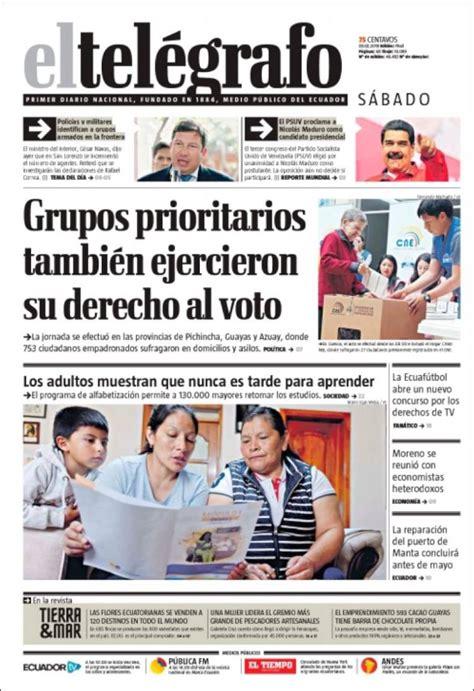 Periódico El Telégrafo (Ecuador). Periódicos de Ecuador ...