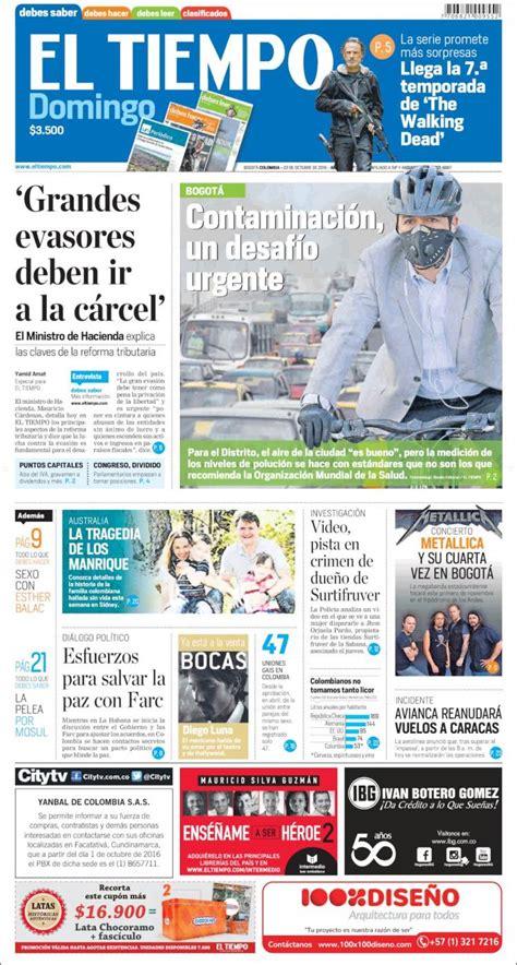 Periódico El Tiempo (Colombia). Periódicos de Colombia ...