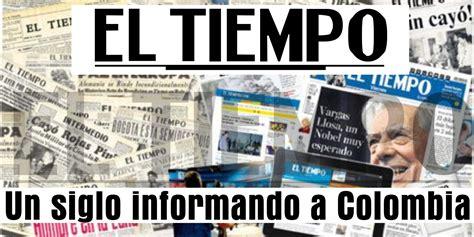 Periodico el tiempo - El tiempo - Periódico El Tiempo, Un ...
