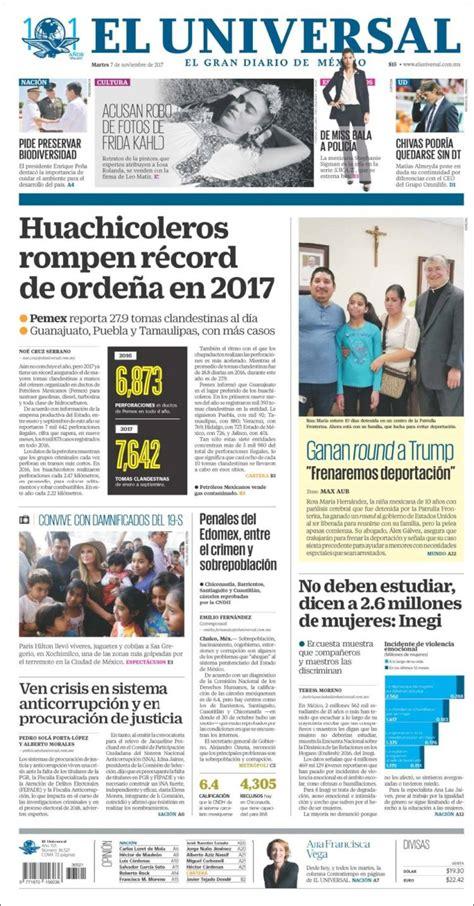 Periódico El Universal  México . Periódicos de México ...