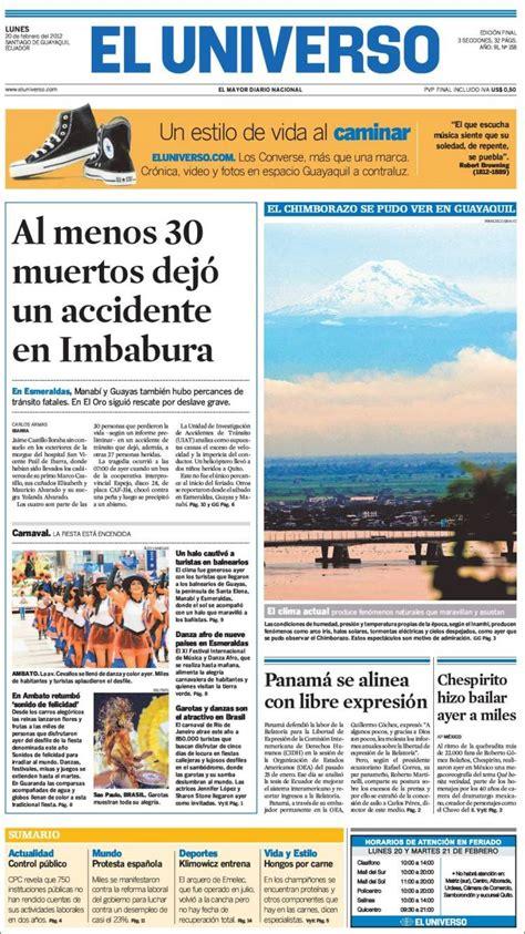 Periódico El Universo - Ecuador (Ecuador). Periódicos de ...