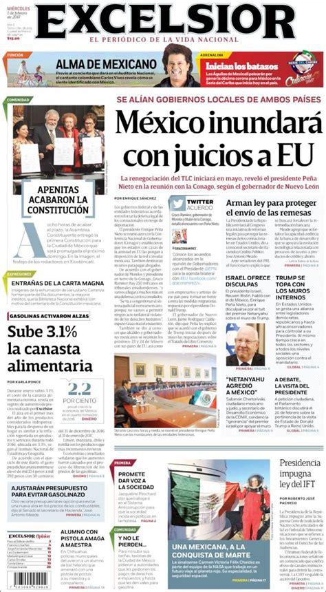 Periódico Excelsior  México . Periódicos de México ...