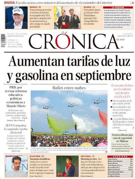 Periódico La Crónica de Hoy  México . Periódicos de México ...