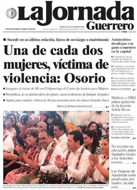 Periódico La Jornada de Guerrero  México . Periódicos de ...