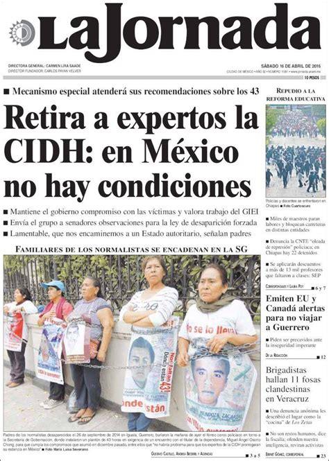 Periódico La Jornada  México . Periódicos de México ...