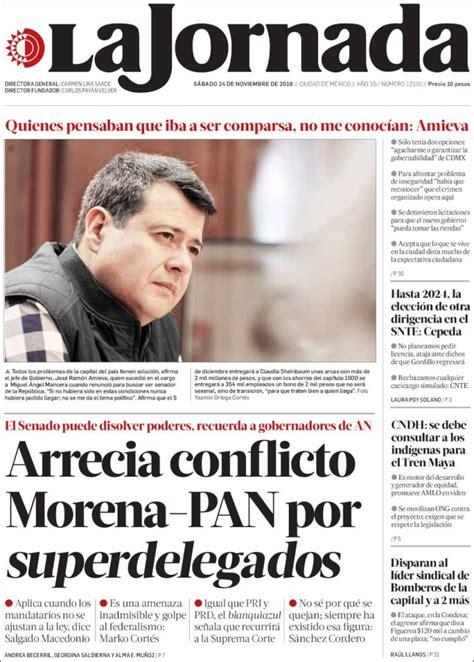Periódico La Jornada  México . Periódicos de México. Toda ...