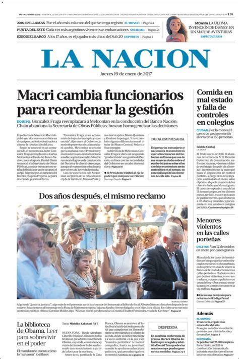 Periódico La Nación  Argentina . Periódicos de Argentina ...