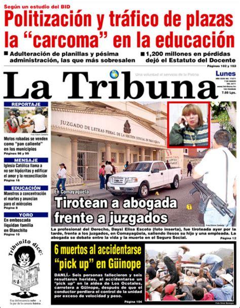 Periódico La Tribuna (Honduras). Periódicos de Honduras ...