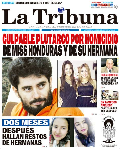 Periódico La Tribuna  Honduras . Periódicos de Honduras ...