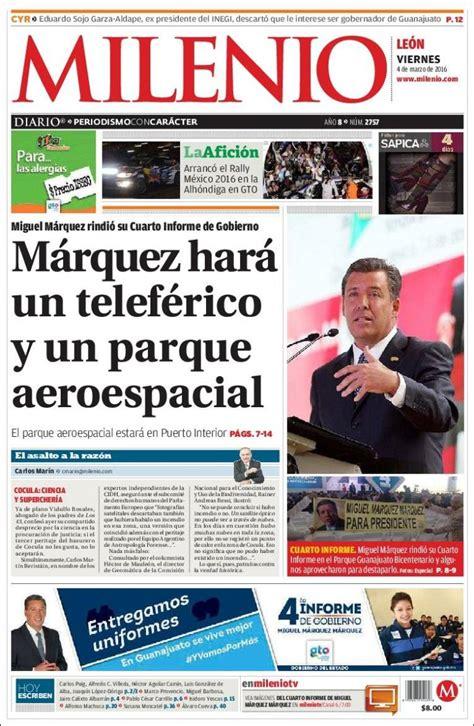 Periódico Milenio de León  México . Periódicos de México ...
