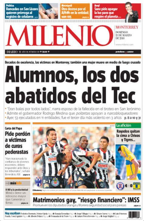 Periódico Milenio de Monterrey  México . Periódicos de ...