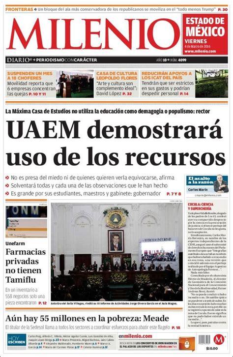 Periódico Milenio   Estado de México  México . Periódicos ...
