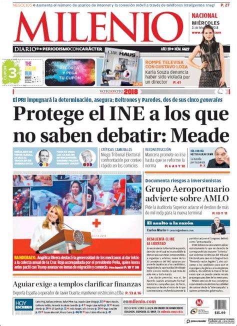 Periódico Milenio  México . Periódicos de México. Edición ...