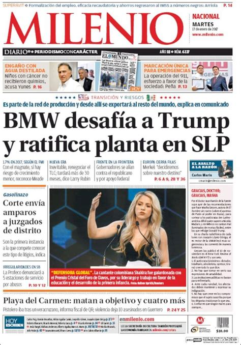 Periódico Milenio  México . Periódicos de México. Toda la ...