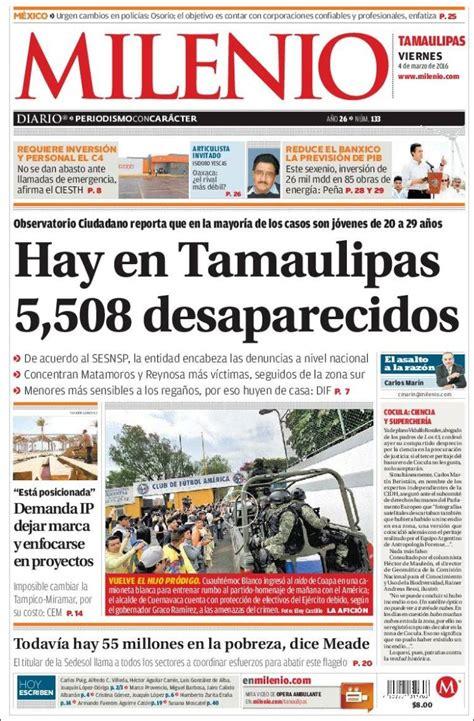 Periódico Milenio   Tamaulipas  México . Periódicos de ...