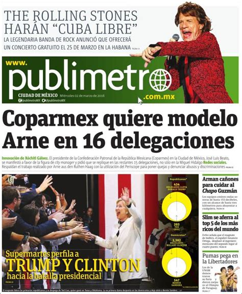 Periódico Publimetro  México . Periódicos de México ...