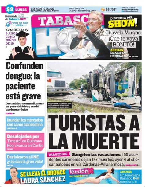 Periódico Tabasco Hoy  México . Periódicos de México ...