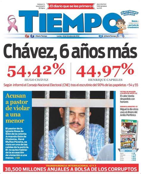 Periódico Tiempo (Honduras). Periódicos de Honduras ...