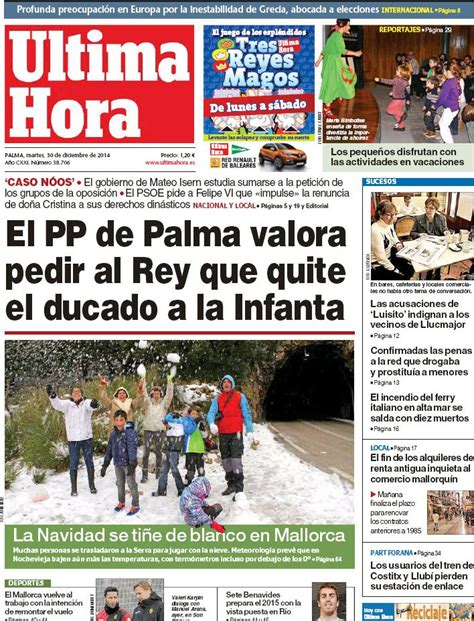 Periodico Última Hora - 30/12/2014