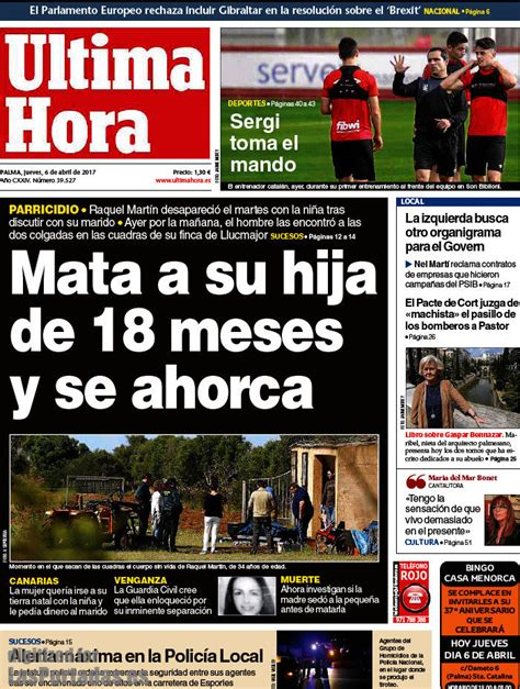 Periodico Última Hora - 6/4/2017