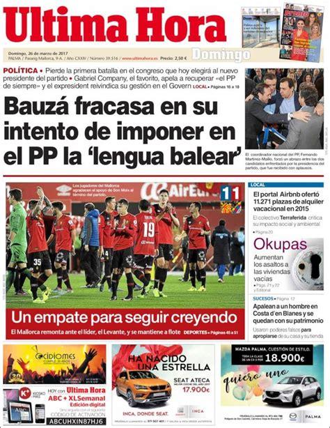 Periódico Última Hora (España). Periódicos de España. Toda ...