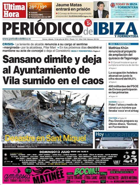 Periódico Última Hora - Ibiza (España). Periódicos de ...