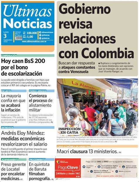 Periódico Últimas Noticias (Venezuela). Periódicos de ...