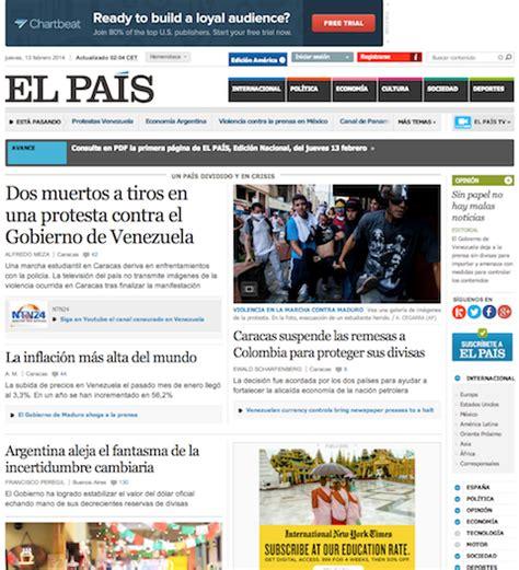 Periódicos online: 9 ejemplos de diseño digital | Revista ...