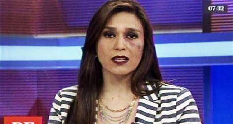 Periodista peruana apareció en vivo con un moretón en uno ...