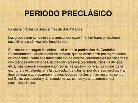 Periodo clasica y preclasica