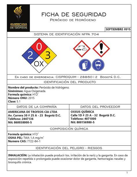 Peroxido de hidrogeno by Americana de Trofeos   Issuu